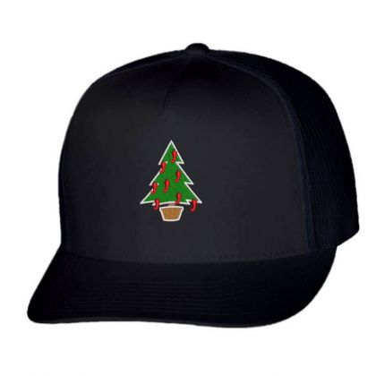 Xmax Tree Embroidered Hat Trucker Cap Designed By Madhatter