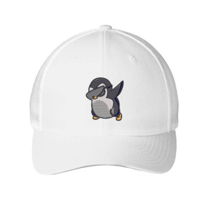 Penguin Embroidered Hat Embroidered Mesh Cap Designed By Madhatter