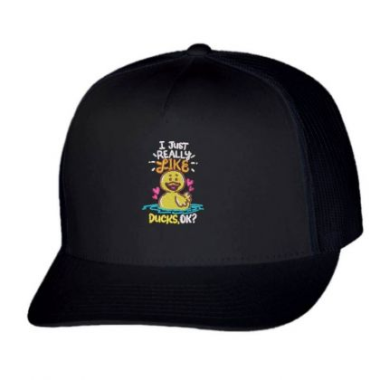 Like Duck Embroidered Hat Trucker Cap Designed By Madhatter