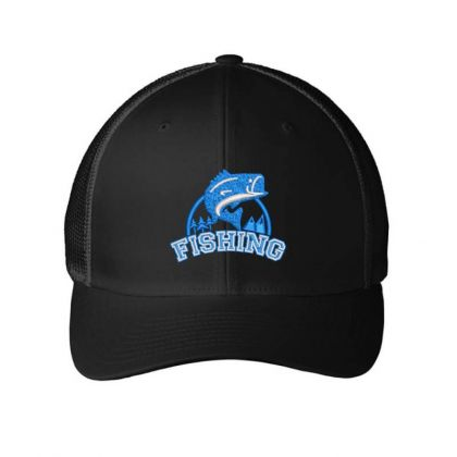 Fishing Embroidered Hat Embroidered Mesh Cap Designed By Madhatter