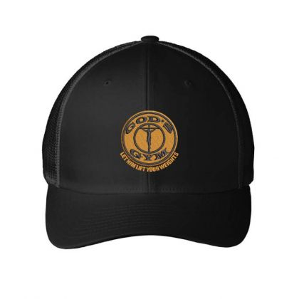 God's Gym Embroidered Hat Embroidered Mesh Cap Designed By Madhatter