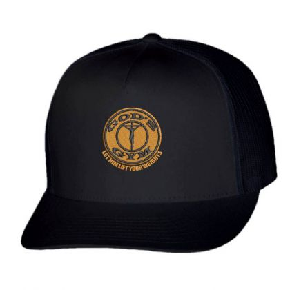 God's Gym Embroidered Hat Trucker Cap Designed By Madhatter