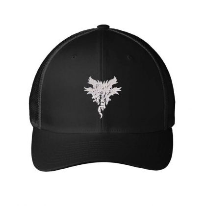 Dragon Embroidered Hat Embroidered Mesh Cap Designed By Madhatter