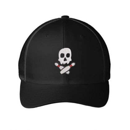 Skull Embroidered Hat Embroidered Mesh Cap Designed By Madhatter