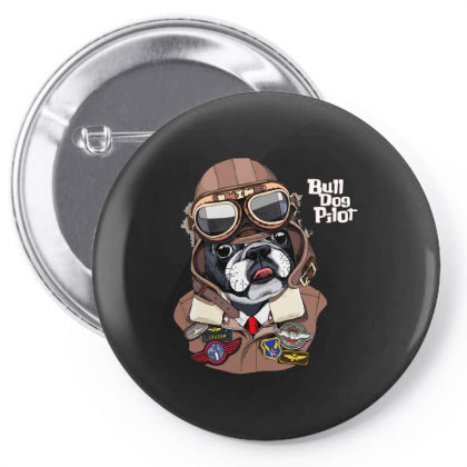 Bulldog Pilot Pin-back Button Designed By Just4you