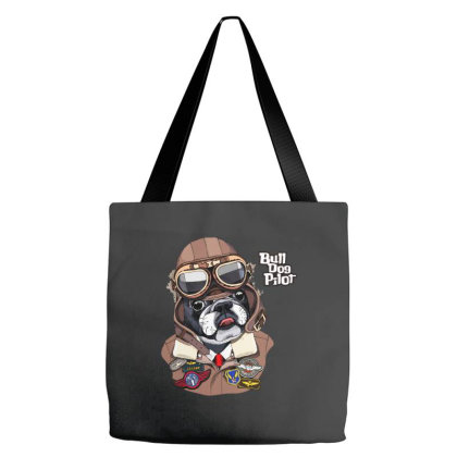 Bulldog Pilot Tote Bags Designed By Just4you