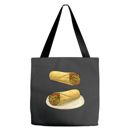 Burrito   Mexican Traditional Food. Tote Bags Designed By Just4you