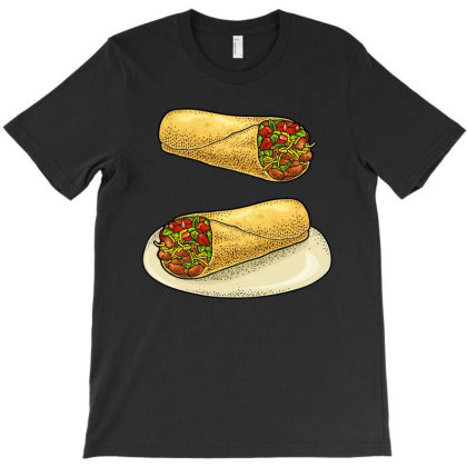 Burrito   Mexican Traditional Food. T-shirt Designed By Just4you