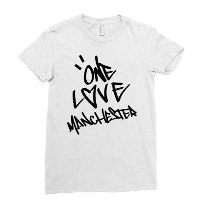 Ariana Grande One Love Manchester   For Light Ladies Fitted T-shirt Designed By Suettan