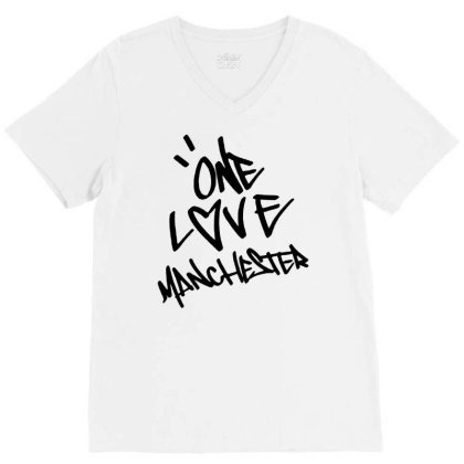 Ariana Grande One Love Manchester   For Light V-neck Tee Designed By Suettan