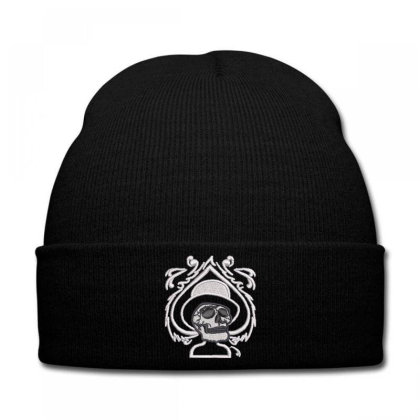 Joker Embroidered Hat Knit Cap Designed By Madhatter