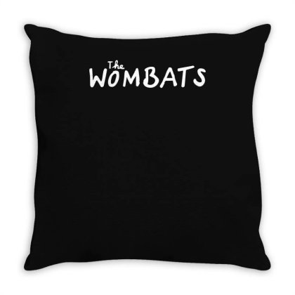 The Wombats Throw Pillow Designed By Ronandi