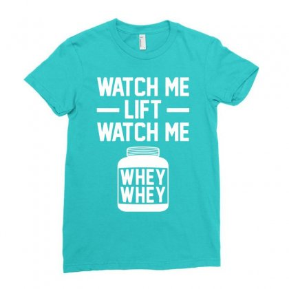 Watch Me Lift Watch Me Ladies Fitted T-shirt Designed By Mdk Art