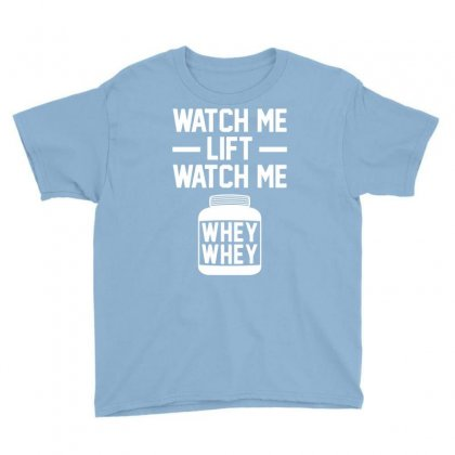 Watch Me Lift Watch Me Youth Tee Designed By Mdk Art