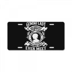 gemini lady the sweetest most beautiful love amazing License Plate | Artistshot