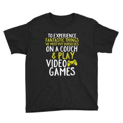 Video Games Geek And Gamer Youth Tee Designed By Joo Joo Designs