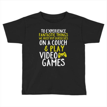 Video Games Geek And Gamer Toddler T-shirt Designed By Joo Joo Designs