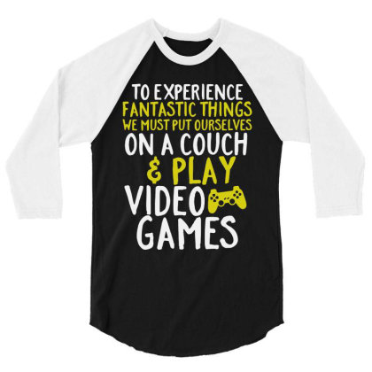 Video Games Geek And Gamer 3/4 Sleeve Shirt Designed By Joo Joo Designs