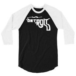 funny detroit smoking gun pictogram 3/4 Sleeve Shirt | Artistshot