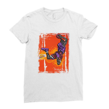 Basketball Sport Ladies Fitted T-shirt Designed By Estore
