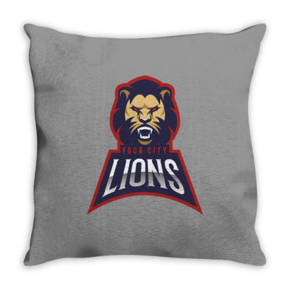 Lion Throw Pillow Designed By Estore