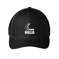 Dilla embroidered hat Embroidered Mesh cap | Artistshot