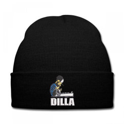 Dilla embroidered hat Knit Cap | Artistshot