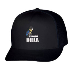 Dilla embroidered hat Trucker Cap | Artistshot