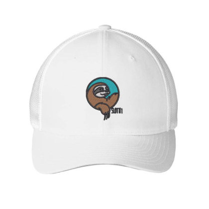 Sloth Embroidered Hat Embroidered Mesh Cap Designed By Madhatter