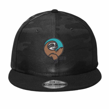 Sloth Embroidered Hat Camo Snapback Designed By Madhatter