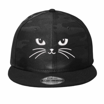 Black Cat Embroidered Hat Camo Snapback Designed By Madhatter