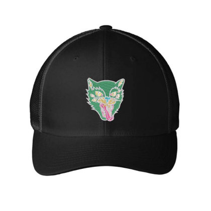 Fox Embroidered Hat Embroidered Mesh Cap Designed By Madhatter