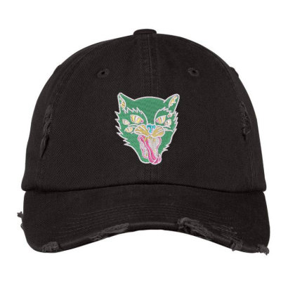 Fox Embroidered Hat Distressed Cap Designed By Madhatter