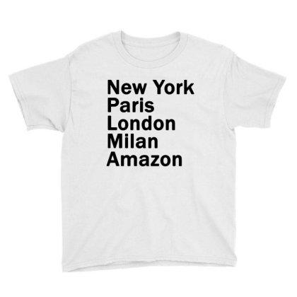 New York Paris London Milan Amazon Youth Tee Designed By Sephia