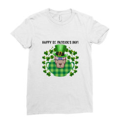 Happy St. Patrick's Day Pitbull For Light Ladies Fitted T-shirt Designed By Neset