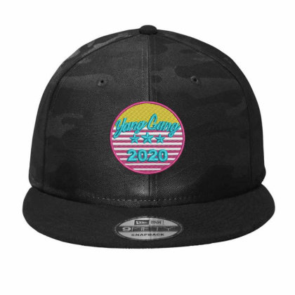 Yang Gang 2020 Embroidered Hat Camo Snapback Designed By Madhatter