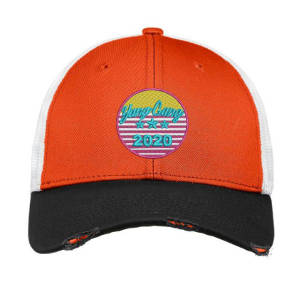 Yang Gang 2020 Embroidered Hat Vintage Mesh Cap Designed By Madhatter