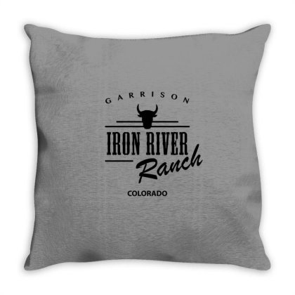 Iron River Ranch Throw Pillow Designed By Planetshirts