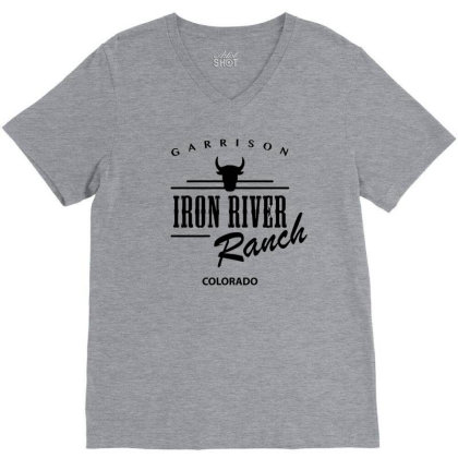 Iron River Ranch V-neck Tee Designed By Planetshirts