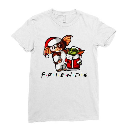 Santa Friends  2020 Ladies Fitted T-shirt Designed By Just4you