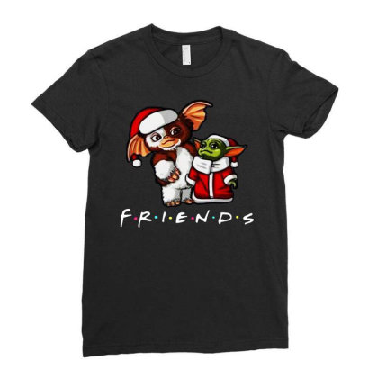 Santa Friends Ladies Fitted T-shirt Designed By Just4you