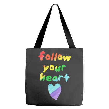 Awesome Follow Your Heart Tote Bags Designed By Just4you