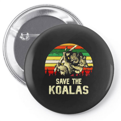 Save The Koala Vintage Pin-back Button Designed By Just4you
