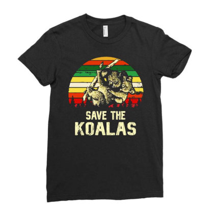 Save The Koala Vintage Ladies Fitted T-shirt Designed By Just4you