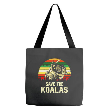 Save The Koala Vintage Tote Bags Designed By Just4you