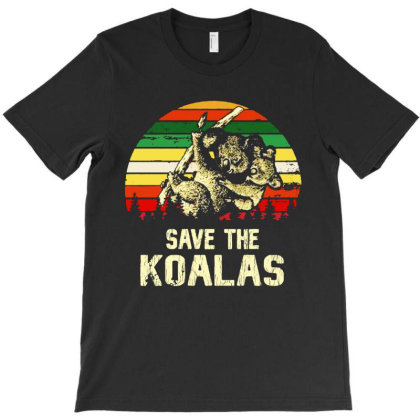 Save The Koala Vintage T-shirt Designed By Just4you