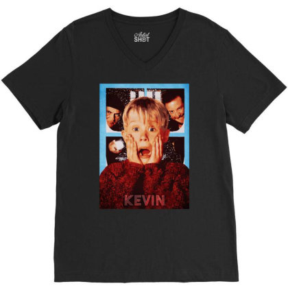 Funny Home Alone V-neck Tee Designed By Just4you