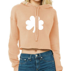Patrick's Day Symbol Icon Cropped Hoodie Designed By Alamy