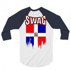 swag-dominican 3/4 Sleeve Shirt   Artistshot