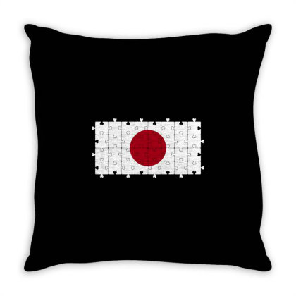 Autism Heart Jigsaw Puzzle Of Japanese Flag Throw Pillow Designed By Alamy